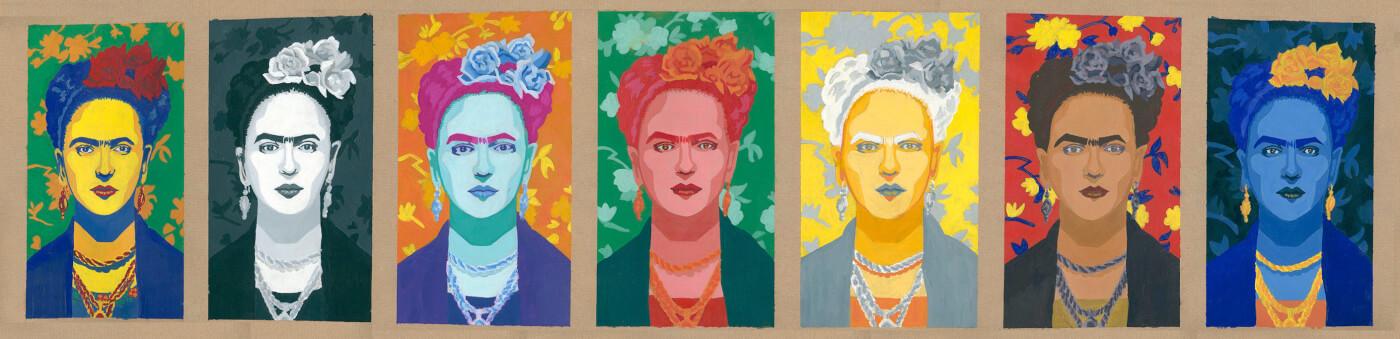 Frida Kahlo, Tempera, eggtempera, Künstlerin