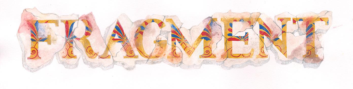 Fragmente, Typografie,