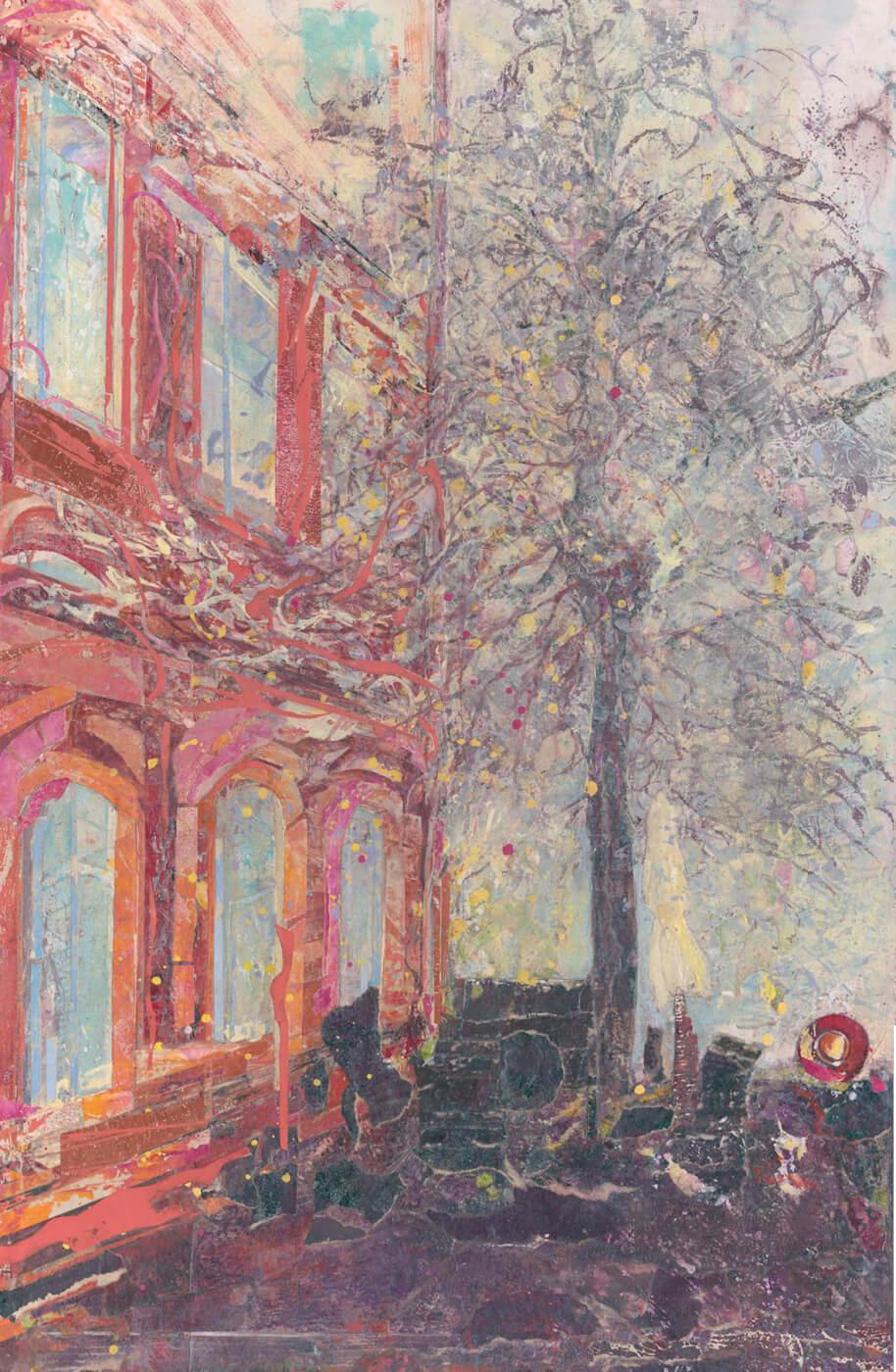 Ottensen, Hinterhof, Hamburg, Altona, Collage