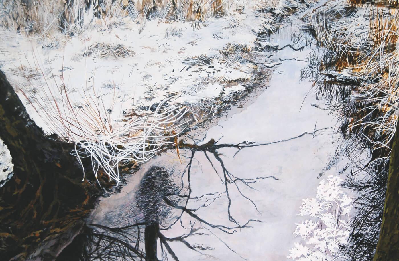 Jenisch Park, Mal-Workshop, Kunst, Winterbild, Schnee gemalt