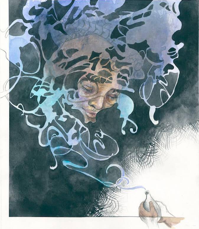 Sanggo der Waisenjunge, Afrika, Geist, Buchillustration