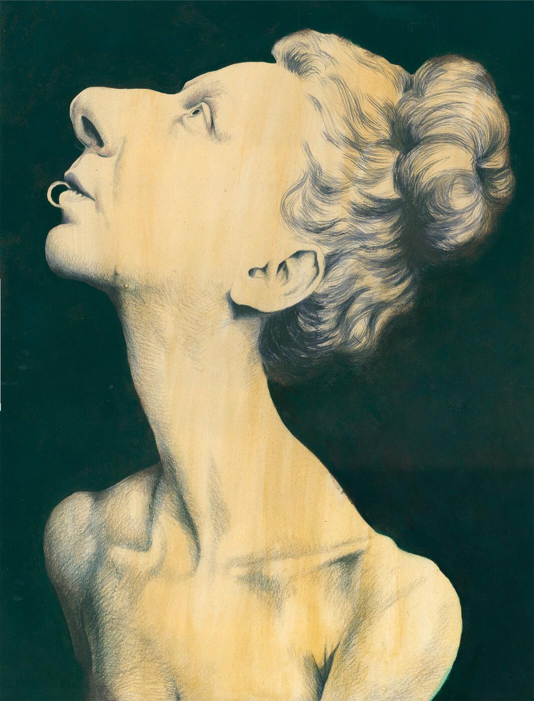 Rudolf Hausner, Portrait, Selbstportrait, Öl, Tempera