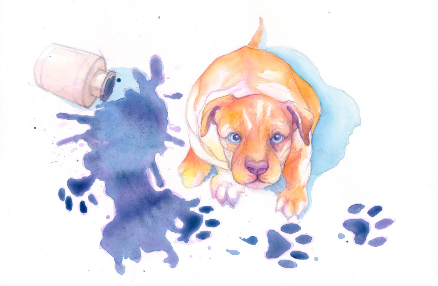 Hunde, Hundebabys, Illustration