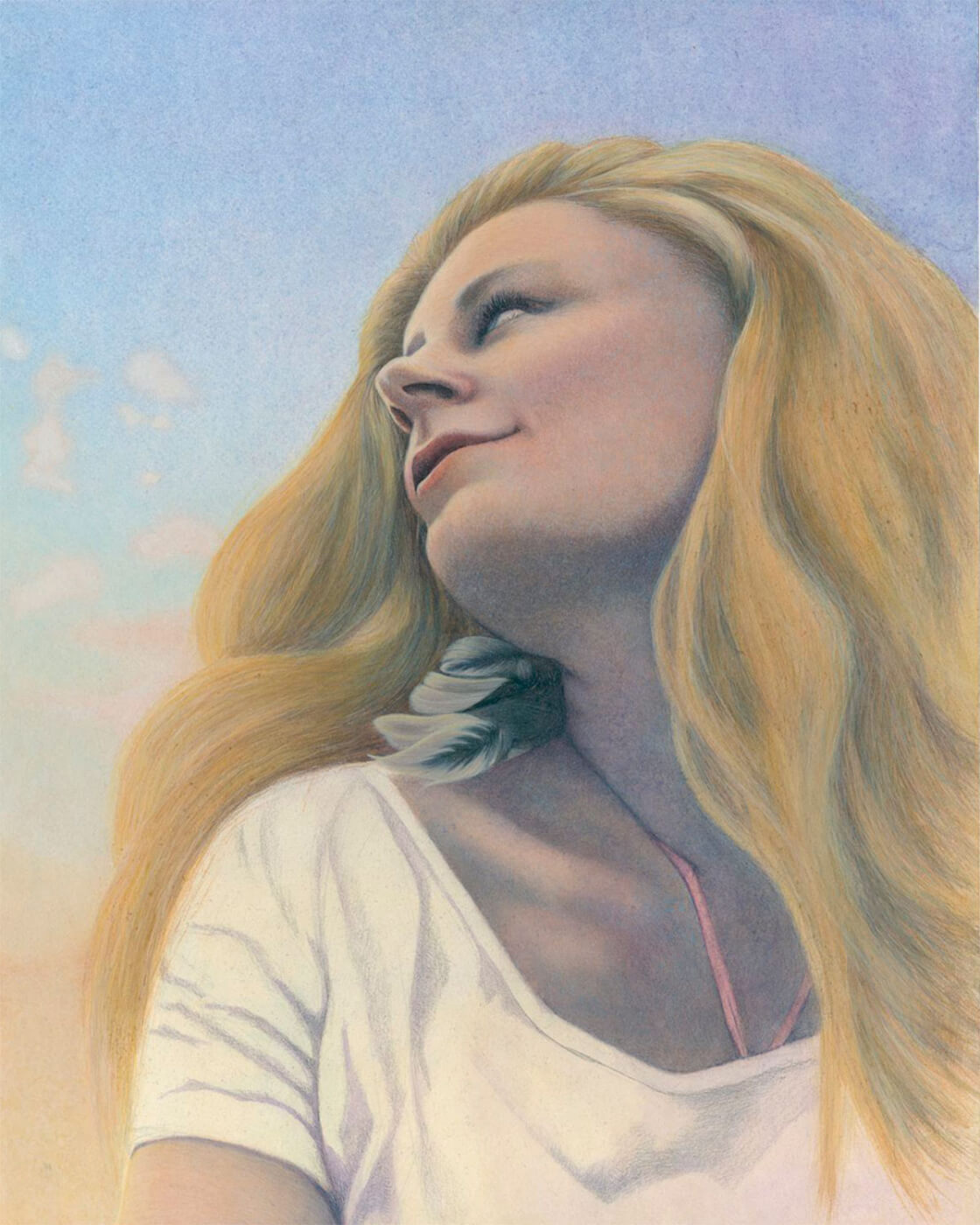 Selbstportrait , Portrait, Sommer, Malerei, Eitempera