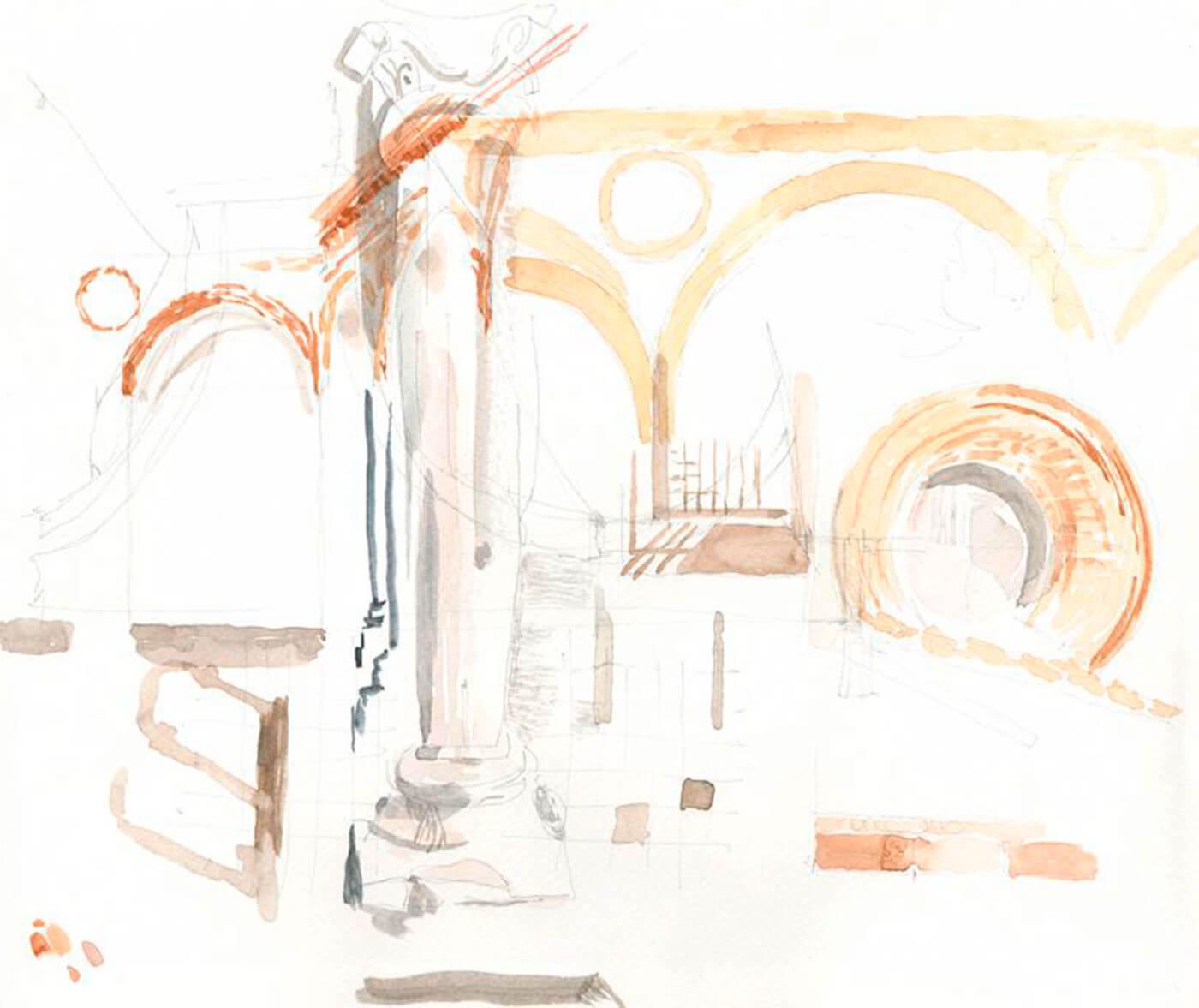 mailand, workshop, santa amraia delle grazie, zeichnung, aquarell, drawing, art