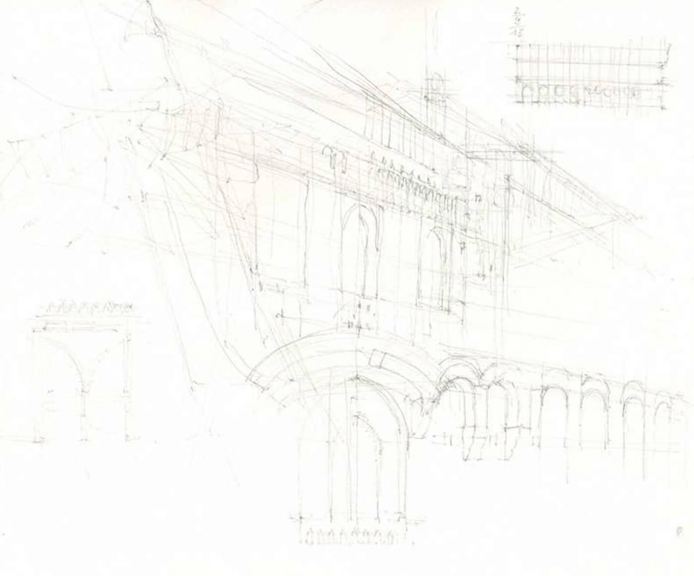 mailand, workshop, palazzo, zeichnung, drawing, art