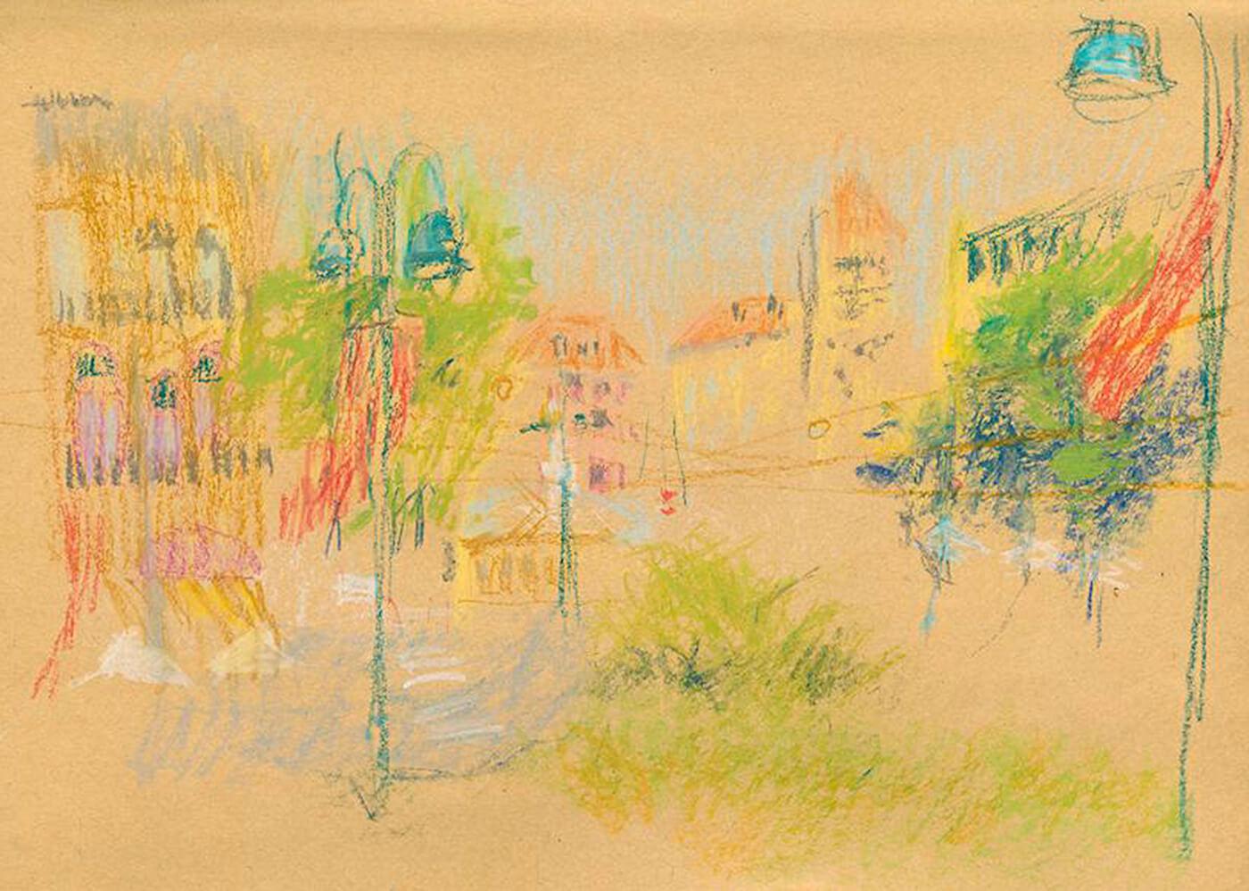 Mailand, Scribble, Polychrom, Zeichnung, Art