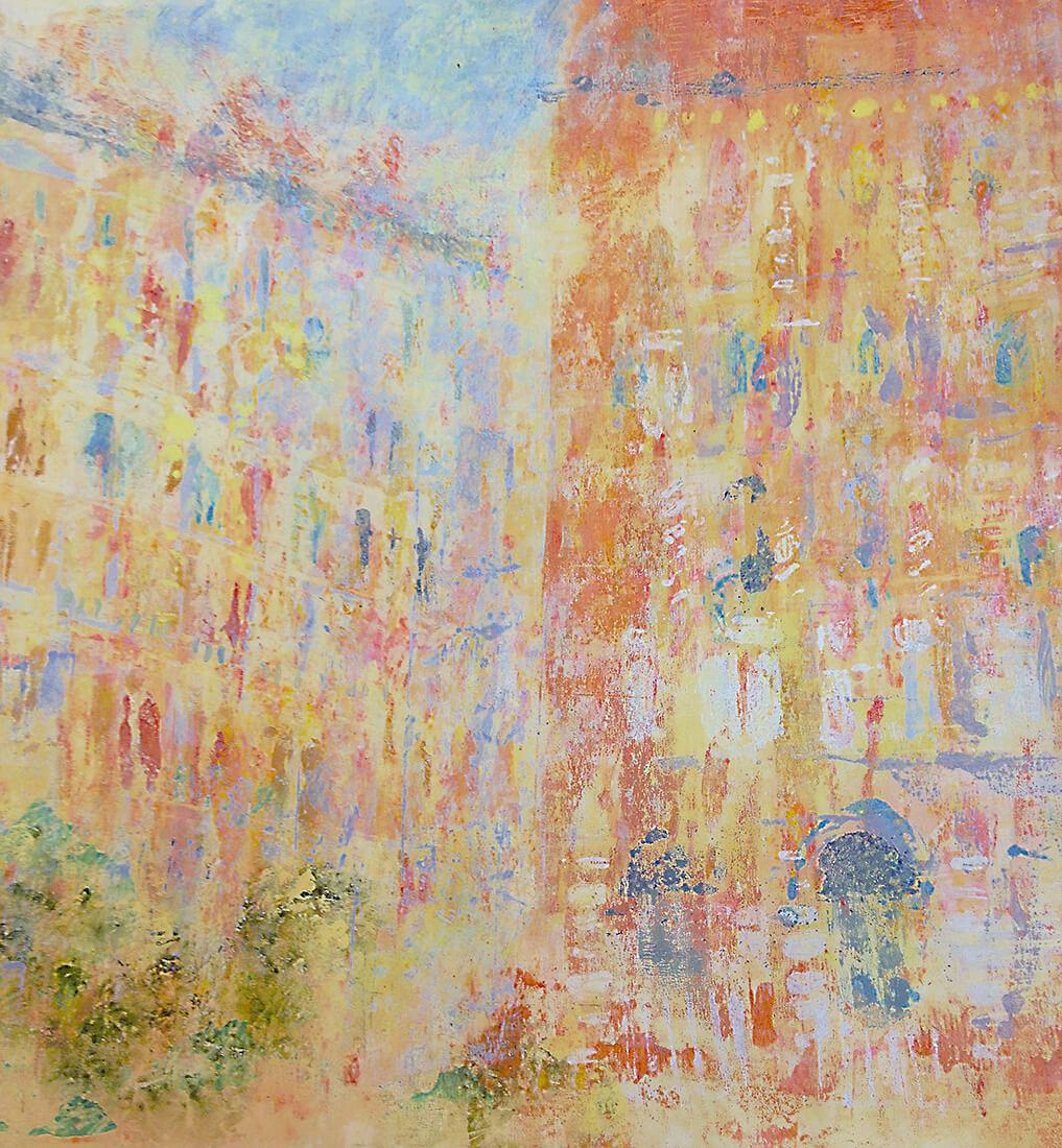 Mailand, Scribble, Polychrom, Zeichnung, Art, Digitale Illustration