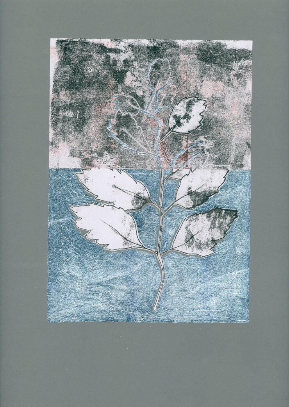 Silber, Workshop, Monotypie, Abklatsch, Art