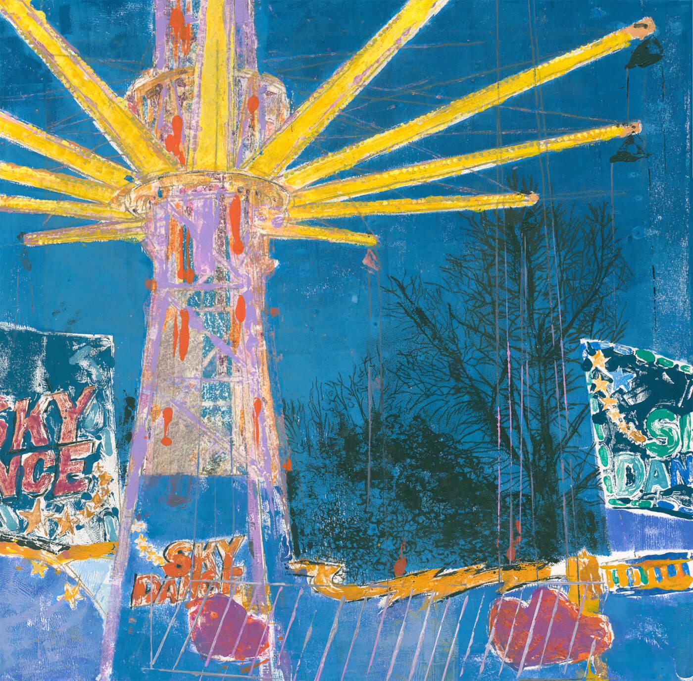 Abstraktion, Dom, Monotypie, Karusell,