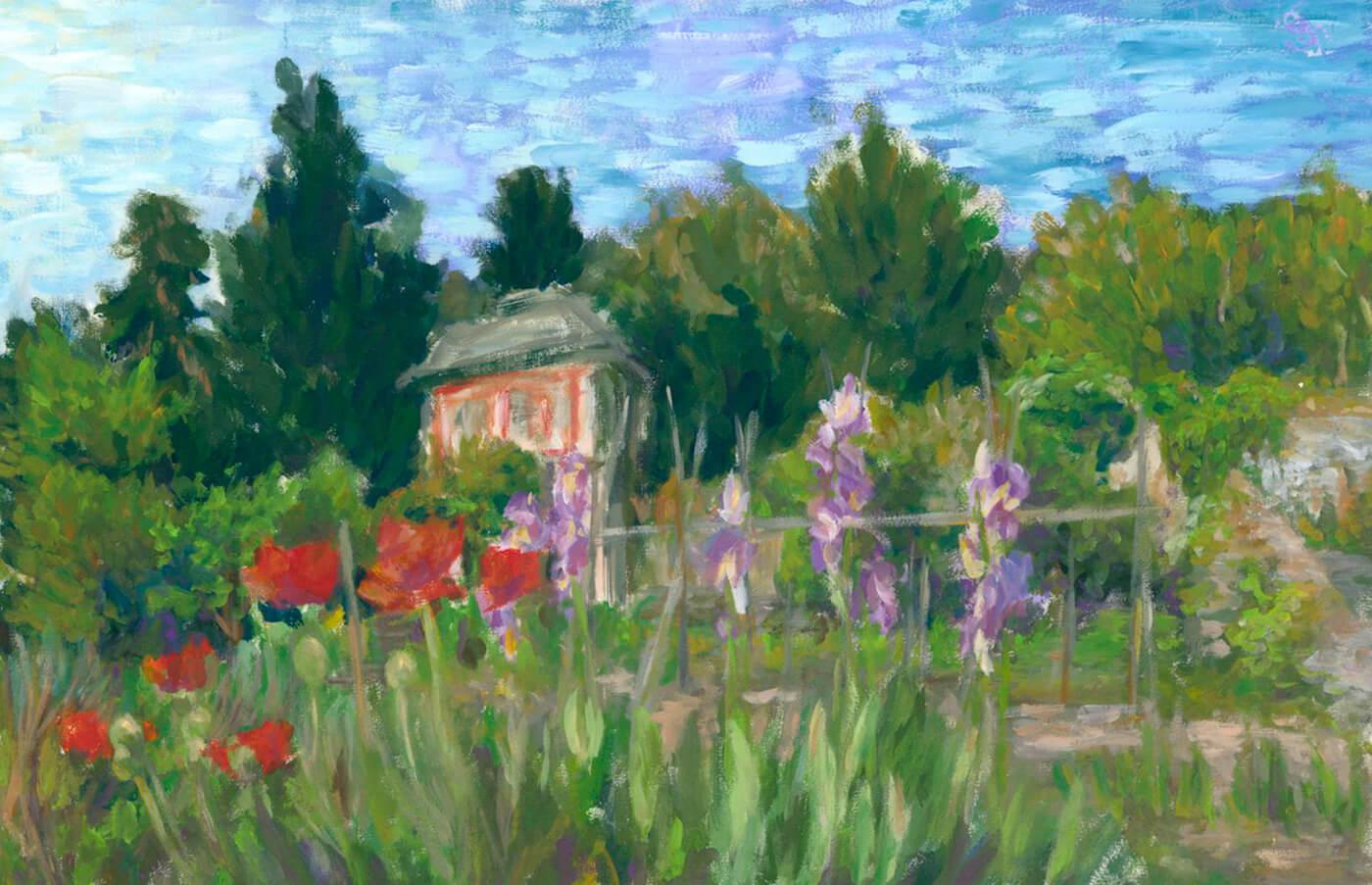 Bonnard, Vuillard, Impressionismus, fleckhaft, Blumenwiese