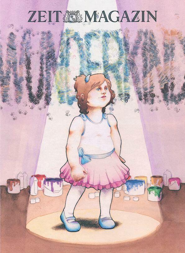 Wunderkind, Malerei, Bühne, Cover, Illustration
