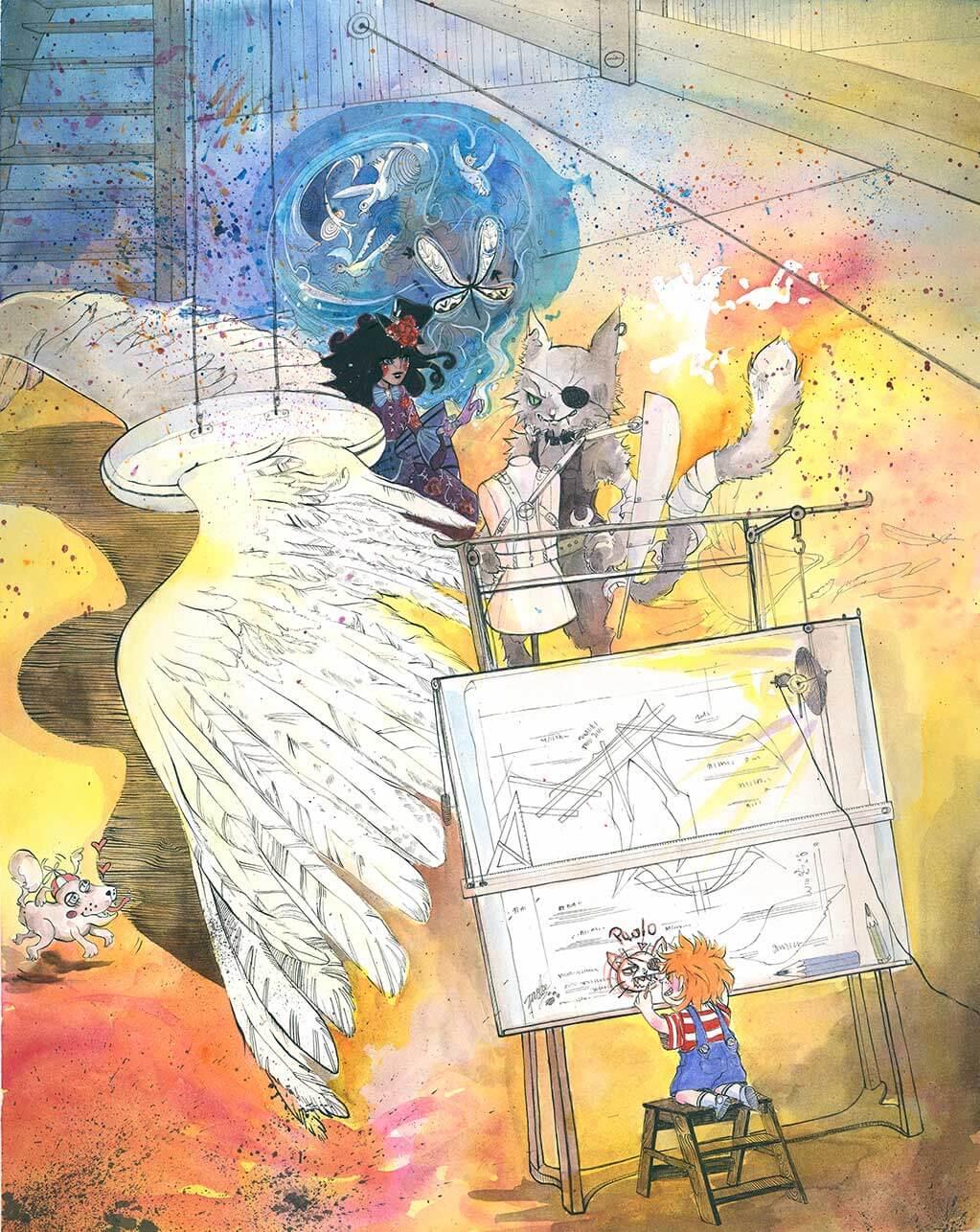 Manga, Illustration, Comic