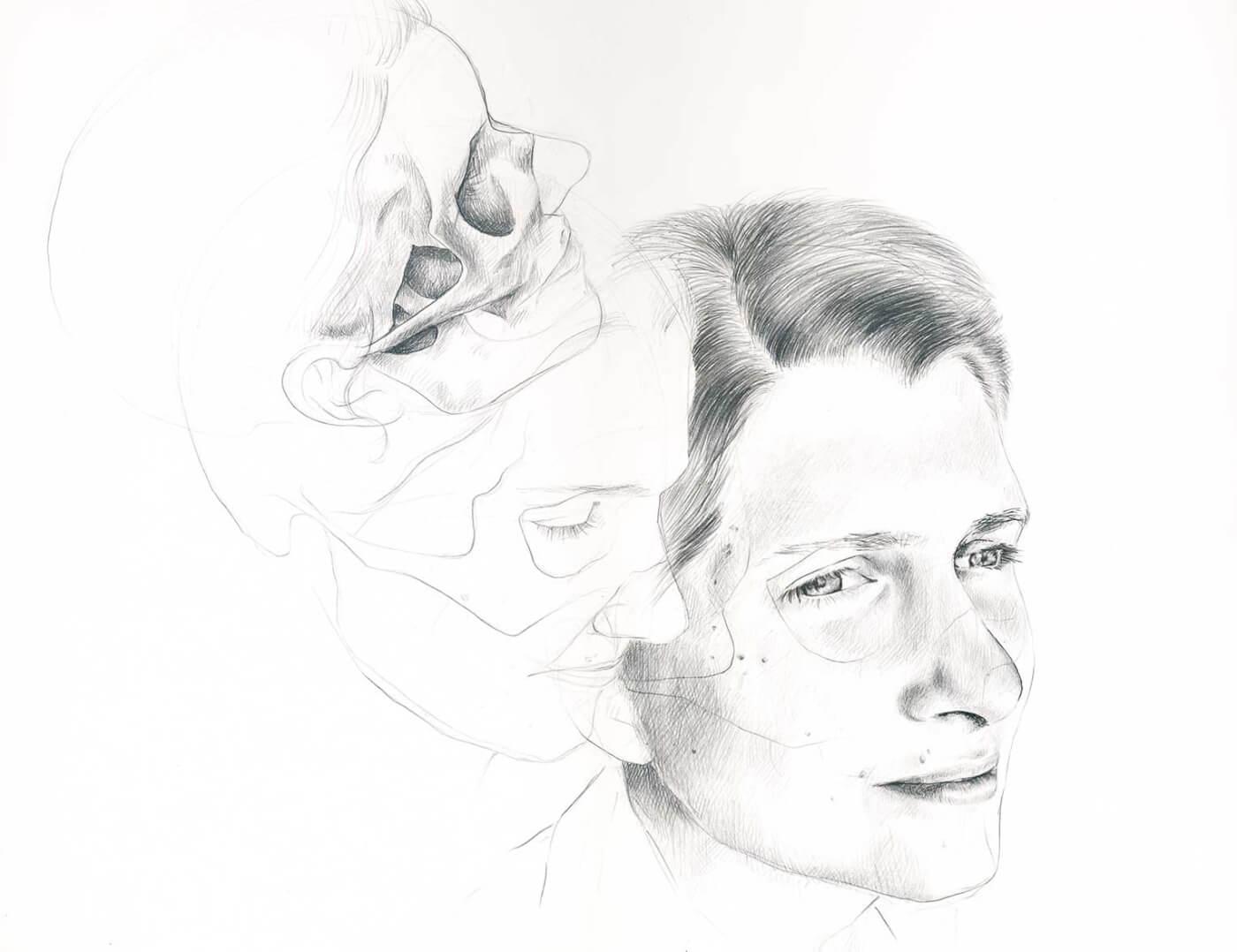 Anatomie, Portrait, Zeichnung,
