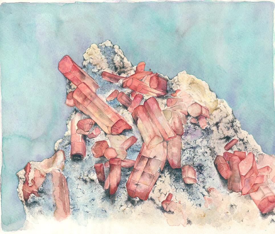 Stein, Strukturen, Aquarell, Illustration