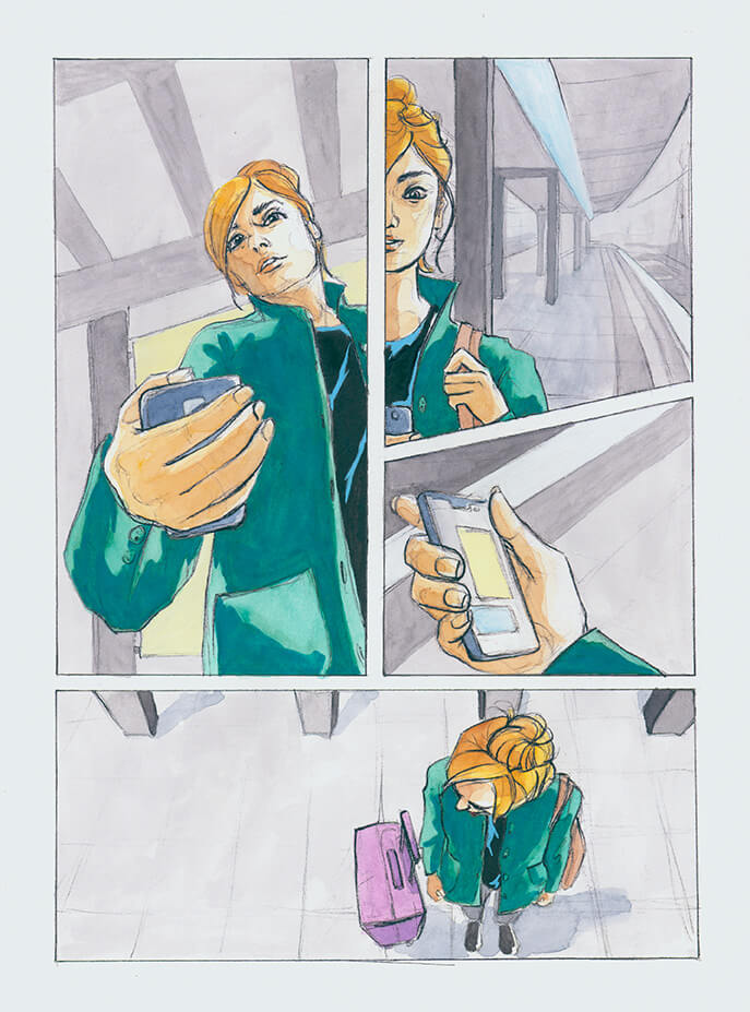 Paris, digitale Illustration, reisen, Jojo Moyes, Comic, Panel, Comicstyle, Marvel