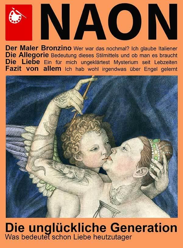 Neon, Covergestaltung, Allegorie der Liebe, Tattoo