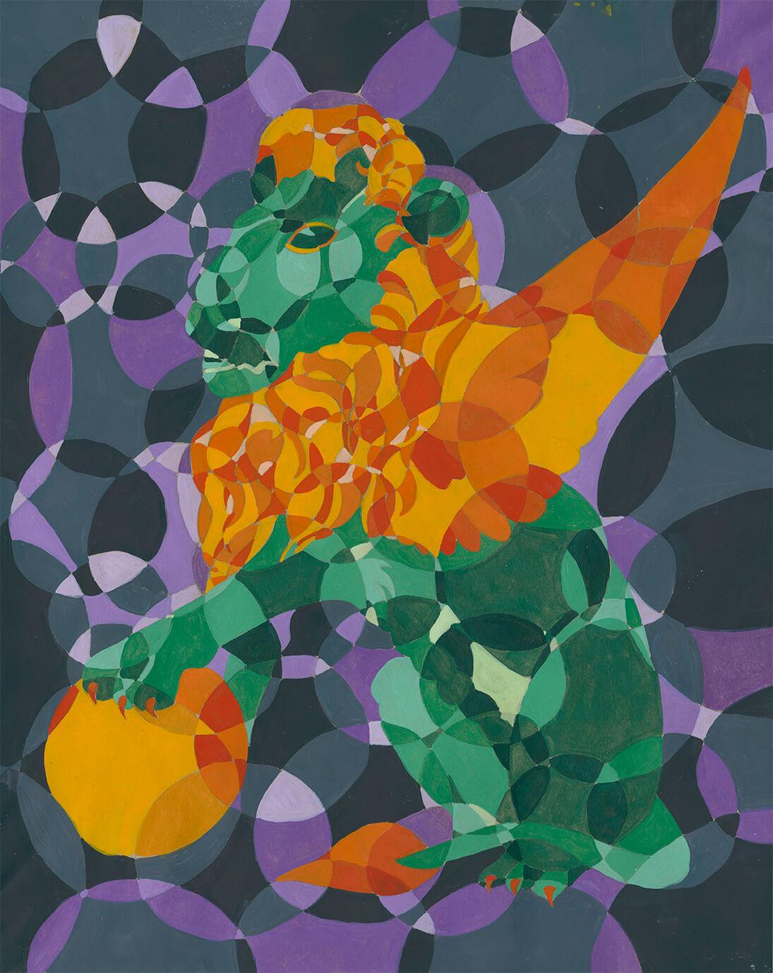 Kreise, painting, tempera, farbkontraste