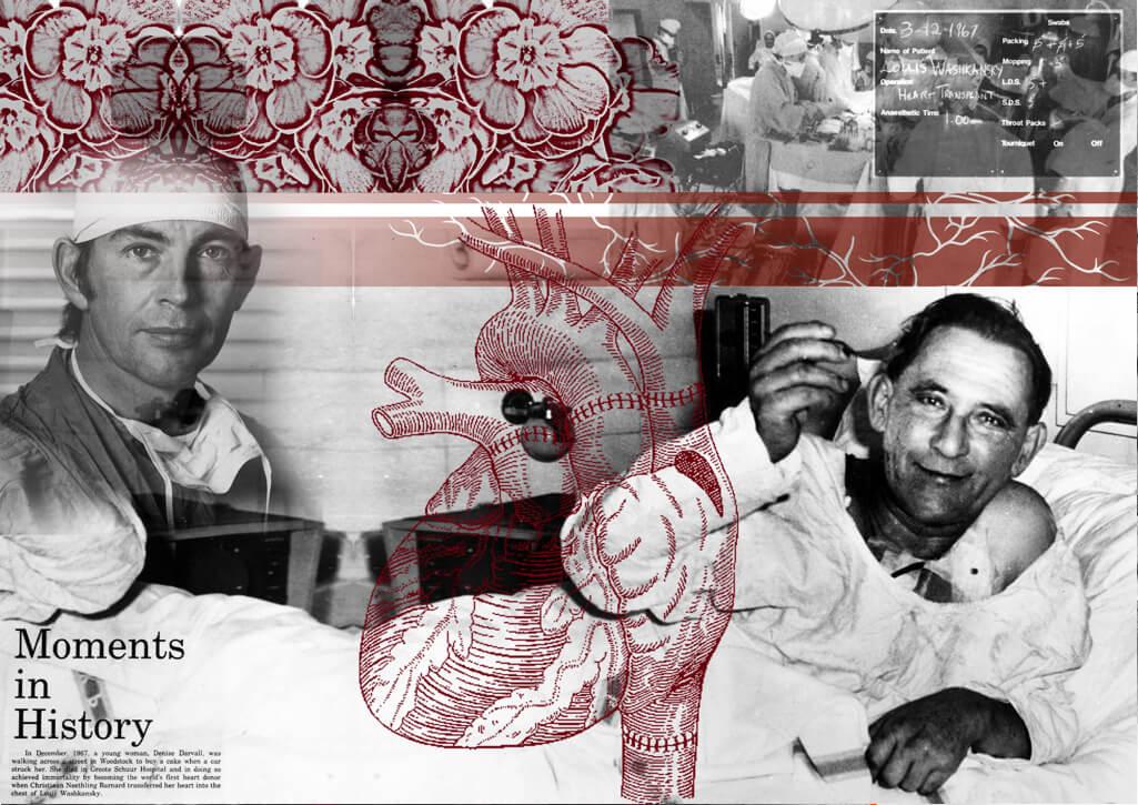 Herztransplantation, Kapstadt, Collage , Lebensrettung, Christiaan Banard