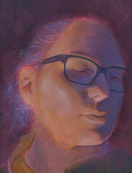 Portrait of a girl artwork illustration Akademie Leonardo