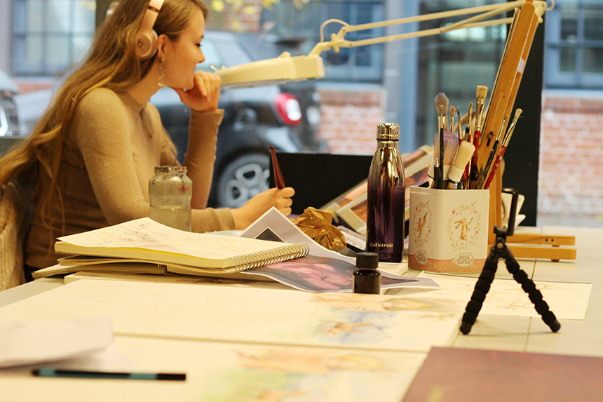 Ausbildung Illustrationsdesign Akademie Leonardo